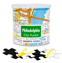 City Magnetic Puzzle Philadelphia Cities Magnetic Puzzle