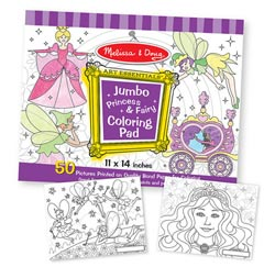Jumbo Coloring Pad - Princess & Fairy Children's Coloring Books - Pads - or Puzzles