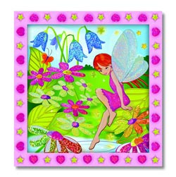 Peel and Press Sticker by Number - Flower Garden Fairy