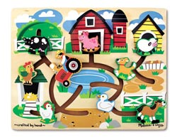 Farm Maze Farm Animals Wooden Jigsaw Puzzle