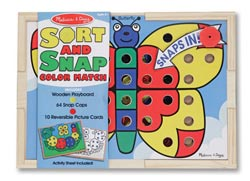 Sort and Snap Color Match Toy