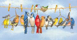 Hangin' Out Birds Jigsaw Puzzle