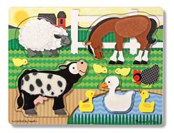 Farm Touch and Feel Puzzle Farm Wooden Jigsaw Puzzle