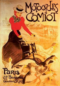 Motocycles Comiot (Vintage Poster) Nostalgic / Retro Jigsaw Puzzle