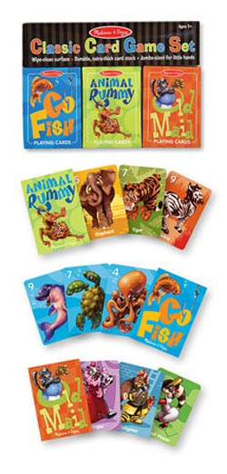 Classic Card Game Set Animals