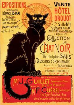 Chat Noir (Vintage Poster) Nostalgic / Retro Jigsaw Puzzle