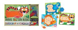 Animal Pattern Blocks Wooden