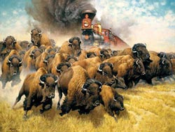 The Coming of the Iron Horse Wildlife Jigsaw Puzzle
