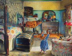 Grandma's Treasure Domestic Scene Jigsaw Puzzle