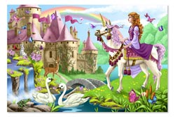 Fairy Tale Castle Puzzle Unicorns Jigsaw Puzzle