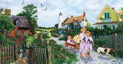 Rose Cottage Lane Spring Jigsaw Puzzle