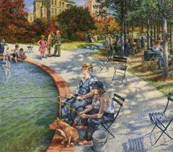 A Day in the Park Fishing Jigsaw Puzzle