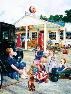 Saturday at the General Store General Store Jigsaw Puzzle