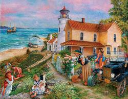 Lighthouse Surprise People Large Piece