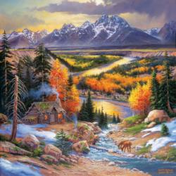 Fall Retreat Landscape Jigsaw Puzzle