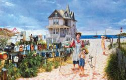 A Walk to the Beach People Jigsaw Puzzle