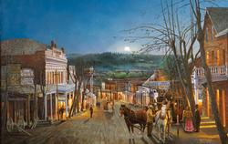 Moonrise over Grass Valley Nostalgic / Retro Jigsaw Puzzle