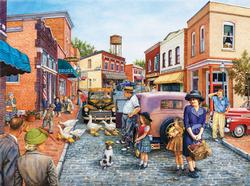 Ducks Crossing Street Scene Jigsaw Puzzle