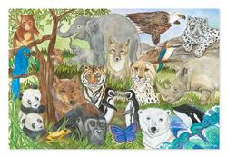 Endangered Species - Floor Other Animals Children's Puzzles