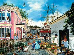 Seacove Village Seascape / Coastal Living Jigsaw Puzzle