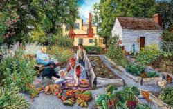 Garden Scene Nostalgic / Retro Jigsaw Puzzle