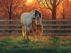 MINI - Quiet Time Horses Jigsaw Puzzle