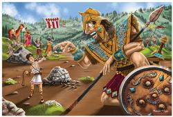 David and Goliath - Floor Puzzle Cartoons Children's Puzzles