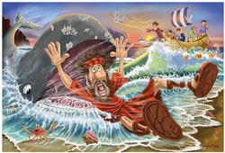 Jonah and the Whale - Floor Puzzle Religious Jigsaw Puzzle