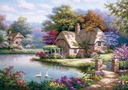 The Swan Cottage Cottage/Cabin Jigsaw Puzzle