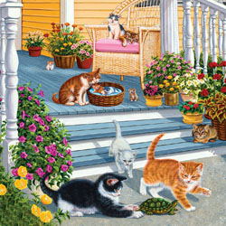A New Playmate - Scratch and Dent Cats Jigsaw Puzzle