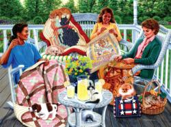 Back Porch Quilting & Crafts Jigsaw Puzzle