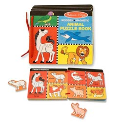 Animal Puzzle Book Language Arts Educational Toy