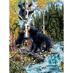 15 Black Bears Lakes / Rivers / Streams Jigsaw Puzzle
