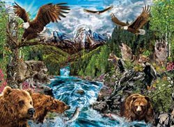 River of Life Wolves Jigsaw Puzzle