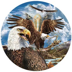 13 Eagles Eagles Shaped Puzzle