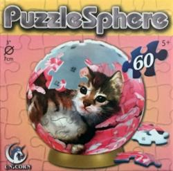 PuzzleSphere - Bed of Roses (Kittens) Cats Puzzleball