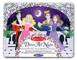 Dance All Night Princess Magnetic Tin Set Princess Toy