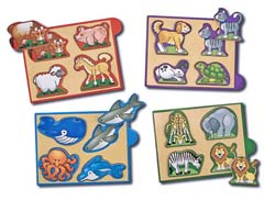 Mini Puzzle Pack - Animals Animals Tray Puzzle