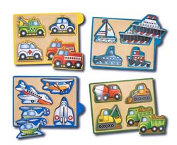 Mini Puzzle - Vehicles Vehicles Wooden Jigsaw Puzzle