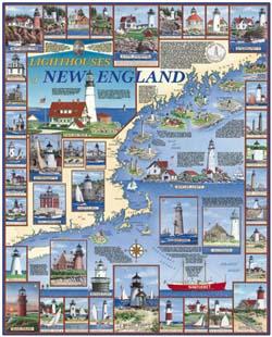 Lighthouses of New England Lighthouses Jigsaw Puzzle