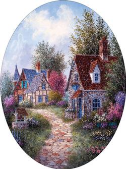 Wishing Well Lane Garden Jigsaw Puzzle