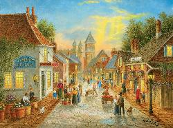 Evening in the City - Scratch and Dent Street Scene Jigsaw Puzzle