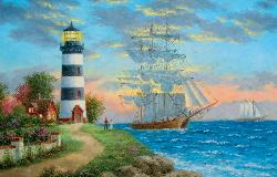 A Seafarer's Welcome Seascape / Coastal Living Jigsaw Puzzle