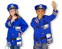 Police Officer Role Play Costume Set Toy