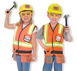 Construction Worker Role Play Costume Set Pretend Play