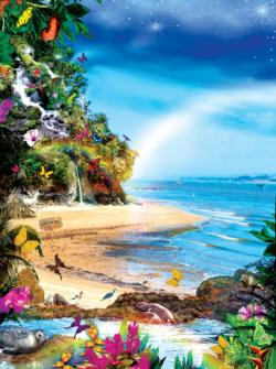 Beach Butterflies Seascape / Coastal Living Jigsaw Puzzle