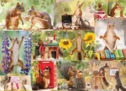 Gettin' Squirrelly Collage Jigsaw Puzzle