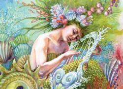 Coral Hymns Mermaids Jigsaw Puzzle