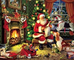 Checking It Twice Christmas Jigsaw Puzzle