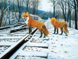 Fox Tracks Winter Jigsaw Puzzle